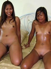 Threesome with 2 cute thai sluts and one happy horny white dude