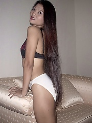Long hair Thai girl