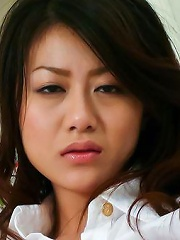 Lovely Hina Aisawa in boots milks cock in cowgirl