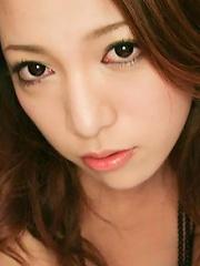 Kanako Tsuchiyo face down bottom up to show off her Asian ass
