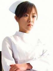 Japanese nurse Miina Minamoto masturbates in a patients room