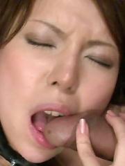 Rino Asuka gang banged and enjoys every moment of it