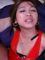 Lovely young Filipina babe Crystel fucked hard by foreigner