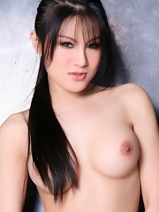 Sexy Fenfang in black panties and high heels