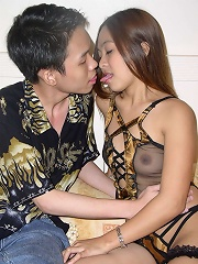 Asian gets a big load in her pretty face after a hard fuck