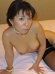 Hot MILF japanese babe doing a hot striptease to tease you