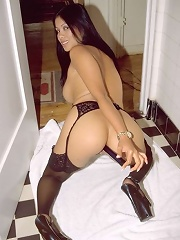 Photos of my asian wife putting a dildo in her tight asshole